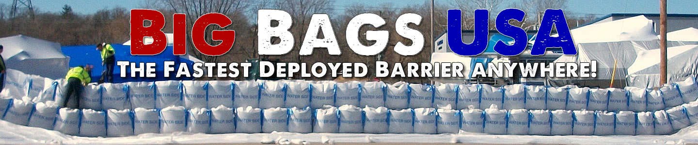Fastest deployed barrier anywhere Big Bags USA flood barriers deployed